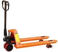 Ручные гидравлические тележки для перемещения паллет АС25Р2000, г/п 2500 кг, удлиненные вилы 2000 мм