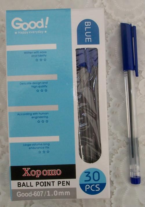 Ручка шариковая GOOD!, цвет синий (607-1)