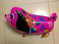 """Шар  """"Собачка на ножках цветная малиновая""""  W007 60см"""