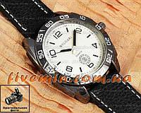 Мужские наручные часы BvLgari Quartz Black White Булгари кварцевые