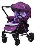 Коляска прогулочная Bair Fox purple светлосиреневый-темносиреневый, фото 10