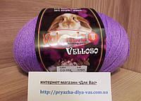 Полушерстяная пряжа (51%-шерсть, 11%-кролик, 38%-акрил, 100 г/460 м) Valencia Velloso CQ034(фиолетовый)