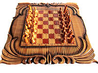 Шахматы резные , настольные, фото 1