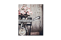 Панно холст Велосипед+цветы 35*45 см