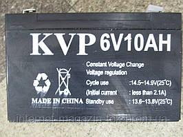 Аккумулятор батарея KVP Yiwu battery 6v 10A