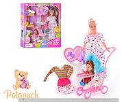 Беременная кукла с коляской Defa 8049