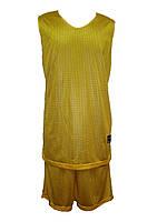 Форма баскетбольная двухсторонняя Liga Sport (сиреневый/желтый)