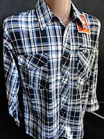 Мужские рубашки с длинным рукавом, в клетку.