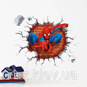"""Наклейка на стену, детские стикеры наклейки """"Челове́к-пау́к Spider-Man"""" (лист 50*45см), фото 2"""