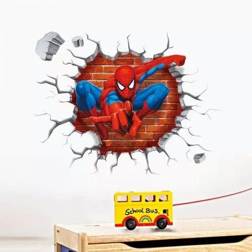 """Наклейка на стену, детские стикеры наклейки """"Челове́к-пау́к Spider-Man"""" (лист 50*45см)"""