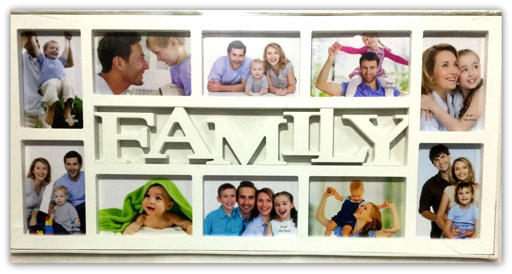 Рамка коллаж 10 фото FAMILY  (62340B)