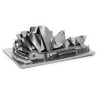 """3D металлический пазл - модель для сборки """"Сиднейский оперный театр"""""""
