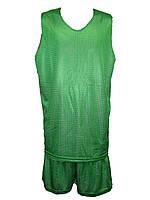 Форма баскетбольная двухсторонняя Liga Sport (зеленый/белый)
