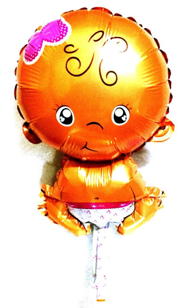 9001-59 Фольгированный шар пупсик девочка (AH-M018)