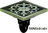 Трап сливной MAGdrain FC11Q5-Q - полированная бронза, 100х100 мм