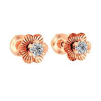 Изысканные серьги-пусеты «Маковый цвет»