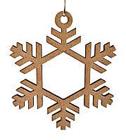 Деревянная новогодняя игрушка заготовка из ДВП. Снежинка