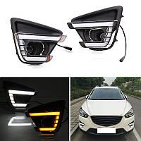 DRL штатные дневные ходовые огни LED- DRL для Mazda Cx-5 2012+ V4 (ДХО Мазда CX-5 , DRL Mazda Cx-5)