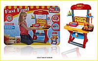 Игровой набор Fast Food батарейки звук касса продукты, посуда в коробке 63*8*45 см