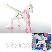 """Лошадка Пегас игрушечная Defa """"Ангел"""" 8325 с крыльями, 23 см"""