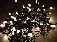 Наружная светодиодная гирлянда Стринг Лайт (String-Light) 100 LED 10 м., теплый белый