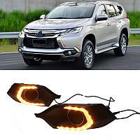 DRL штатные дневные ходовые огни LED- DRL для Mitsubishi Pajero Sport 16+