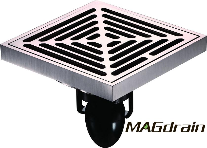 D1 Трап сливной MAGdrain  матовый никель, 100х100 мм Н-85