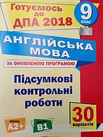 ДПА 2018 9 клас Англійська мова.