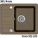 Гранітна мийка AquaSanita Nota SQ-102 (575х460 мм.), фото 9