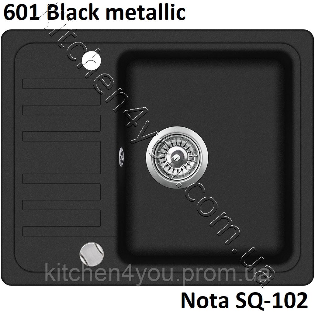 Гранітна мийка AquaSanita Nota SQ-102 (575х460 мм.)