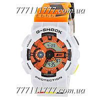 Часы мужские наручные Casio G-Shock GA-110 White-Orange Mersedes