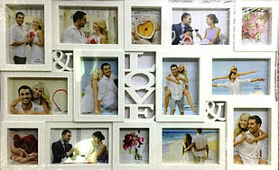 Мультирамка на 14 фото LOVE (R02)