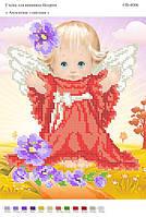 """""""Ангелочек с цветами"""" СВ-4006 (А4). Частичная вышивка"""
