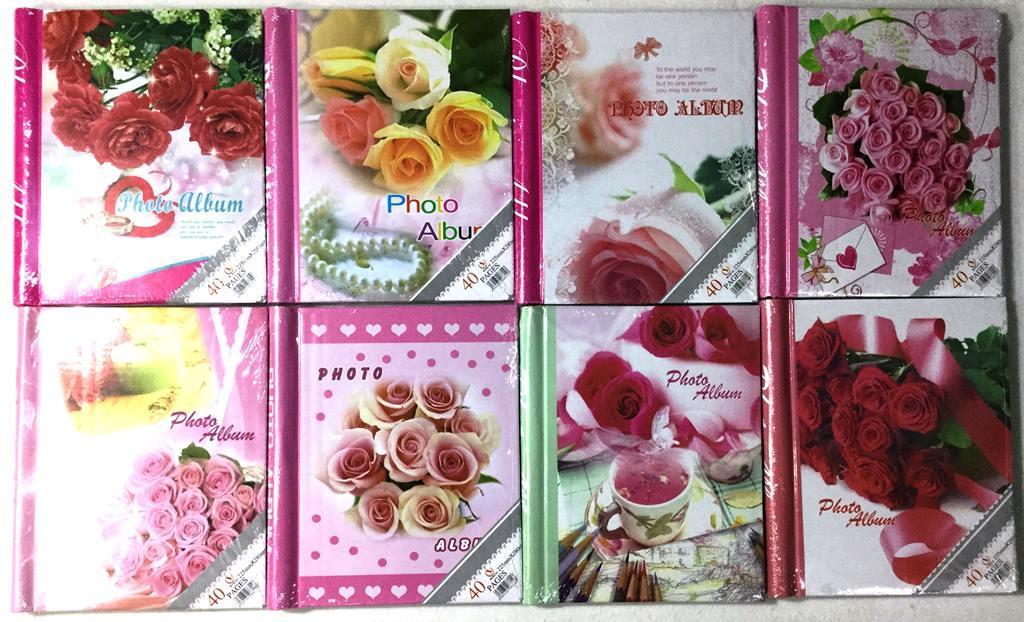 Фотоальбом  на 40 магнитных страниц   Цветы
