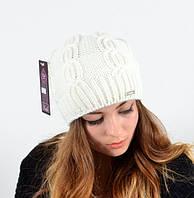 Зимняя полушерстяная шапка