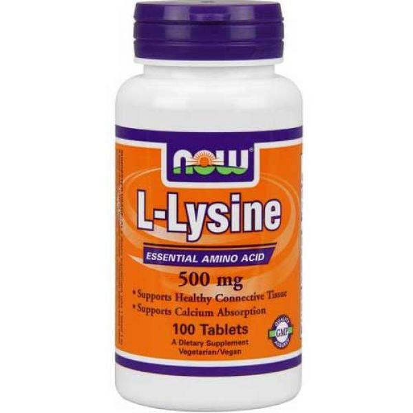 NOW Foods L-Lysine 500mg 100 tabs