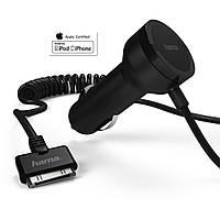 HAMA Автомобильный адаптер  12\24-5V 2,1A в прикуриватель для  Apple iPhone и iPod