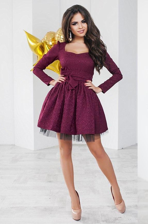 "Т1132  Коктейльное платье ""Baby doll"" 42,44,46"