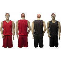 Форма баскетбольная двухсторонняя Liga Sport (черный/красный)