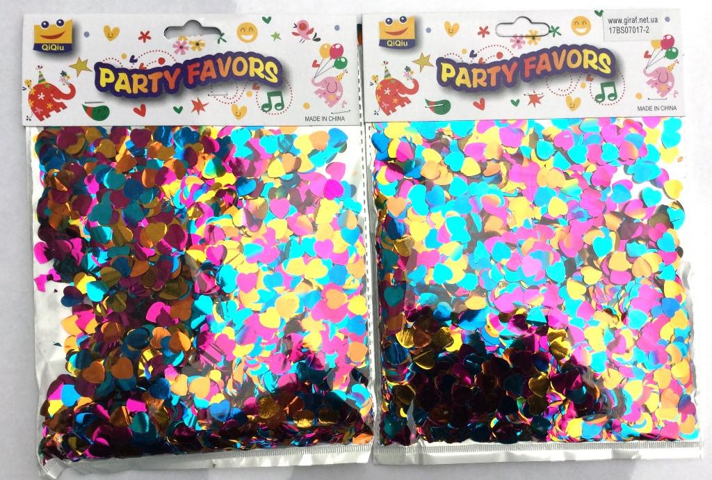 Блестки Сердечки конфетти для наполнения прозрачных шариков