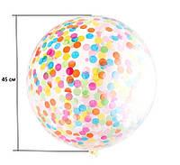 Воздушный прозрачный шарик для наполнения блестками 30 см, фото 1
