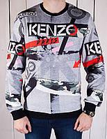 Кофта мужская Kenzo 19005 серая