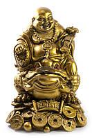 """Хотей на жабе каменная крошка """"бронза"""" (12,5х10,5х8,5 см)"""