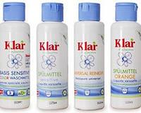 Органический тестер-концентрат геля для мытья посуды Klar, 125 мл. Апельсин