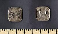 Суринам 5 центов 1962