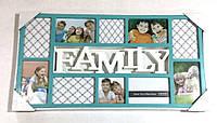 """Коллаж на 10 фото """"Family"""" бирюза"""