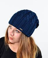 Синяяя двойная шапка