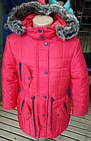 Детское зимнее пальто для девочки (рост 122-152)