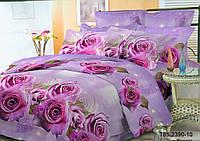 """Двуспальный комплект постельного белья 180*220 из полиэстера """"Розовые Розы"""""""