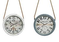 Настенные часы винтаж металл стекло
